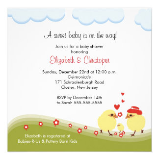 Couple Baby Shower Invitation Baby Chick