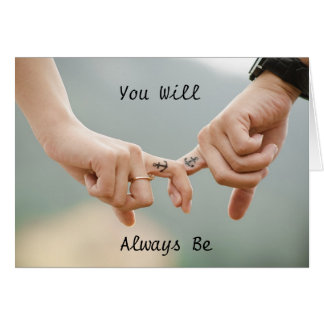 "Couple Holding Hands ""You are my Anchor"" card"