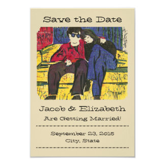 """Couple in Love """"Save the Date"""" Cards & Envelopes 9 Cm X 13 Cm Invitation Card"""