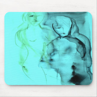Couple in turquoise mousepad