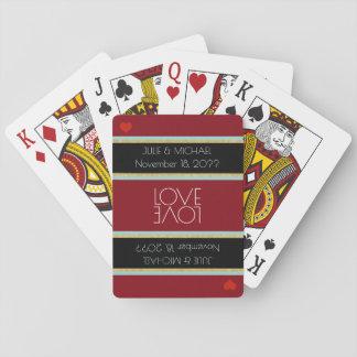 couple love celebration wedding poker deck