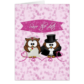 couple owl - save-the-date card