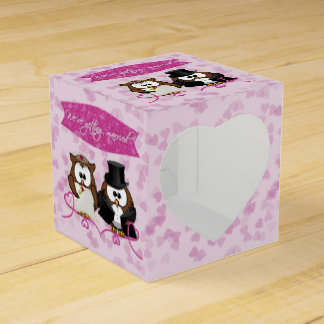 couple owl - we're getting married favour box
