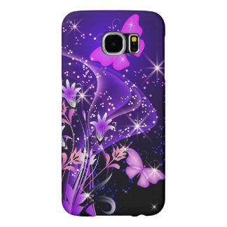 Couple Purple Butterflies Samsung Galaxy S6 Cases