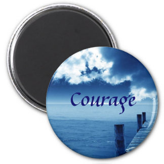 Courage 6 Cm Round Magnet