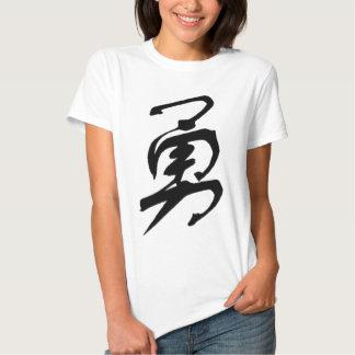 Courage Bravery Daring calligraphy T-Shirt