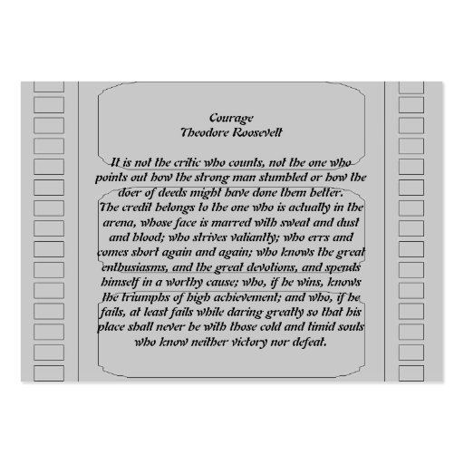 Courage Business Card