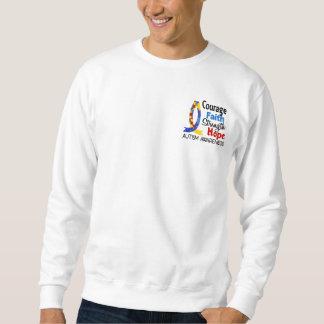 Courage Faith Strength Hope Autism Sweatshirt