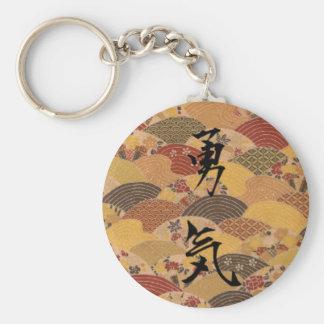 Courage Basic Round Button Key Ring