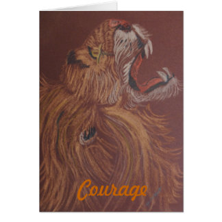 Courage of a Loin Greeting Card