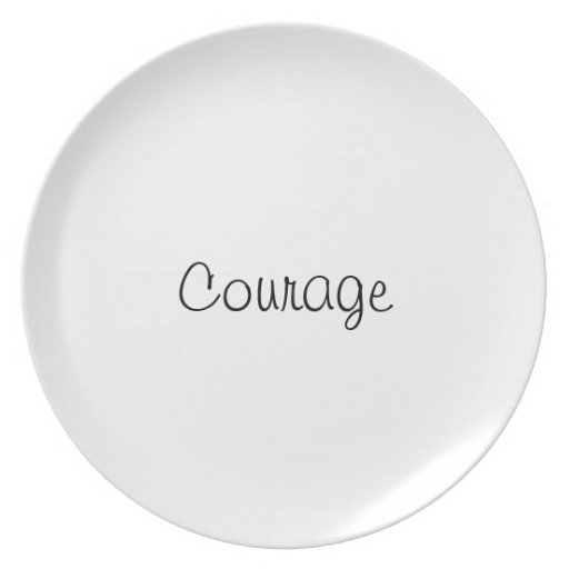 Courage plate