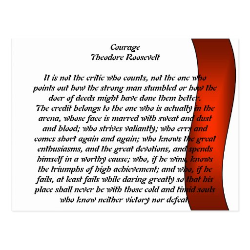 Courage Post Card