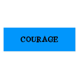 COURAGE PROFILE CARD BUSINESS CARD