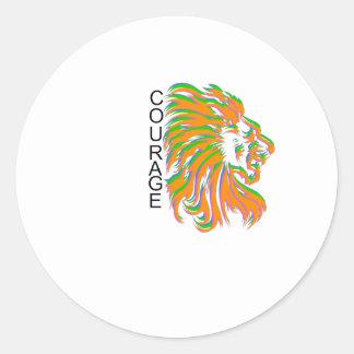 Courage Round Sticker