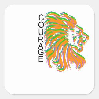 Courage Square Sticker