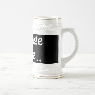 Courage to Be Black White Beer Stein Beer Steins