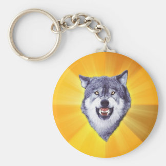 Courage Wolf Advice Animal Internet Meme Key Ring
