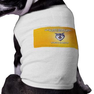 Courage Wolf Sleeveless Dog Shirt