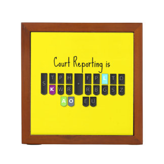 Court Reporting is Cool Steno Keyboard Desk Organiser