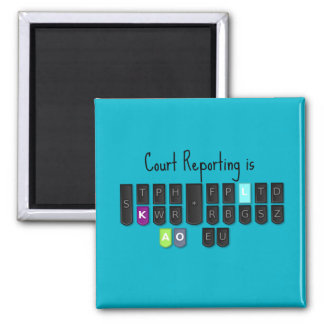 Court Reporting is Cool Steno Keyboard Magnet