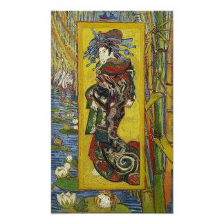 Courtesan (after Eisen) by Vincent Van Gogh Photo Print