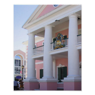Courthouse in Nassau, Bahamas Poster