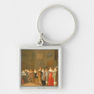 Courting Scene, 1644 (oil on canvas) Key Ring
