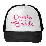 Cousin of Bride Pink White Cap