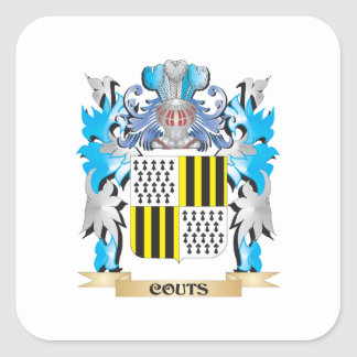 Couts Coat of Arms - Family Crest Square Stickers