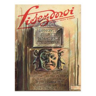 Cover, Lisez-Moi, Face and Latin inscription Postcard