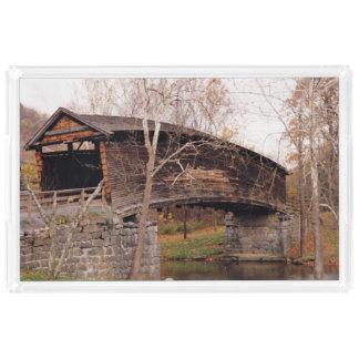 Covered Bridge Acrylic Tray