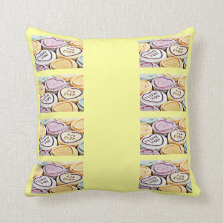 Coversation Hearts Throw Pillows