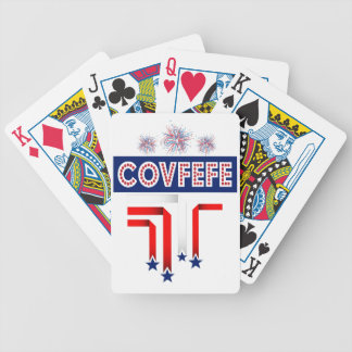 Covfefe Trump Joke for 4th of July Celebration Bicycle Playing Cards