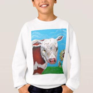 Cow and Sunflowers Sweatshirt