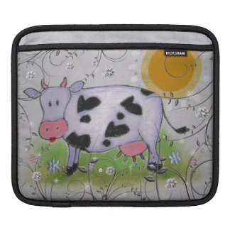 cow and the sun iPad sleeve
