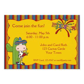 Cow Cactus Fiesta Invitation