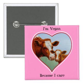 Cow & Calf Vegan Button