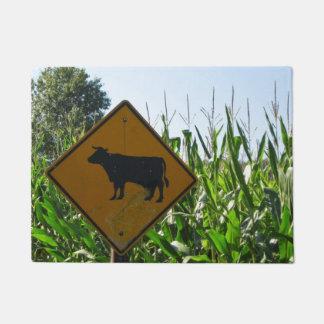 Cow Crossing Cornfield Farming Doormat