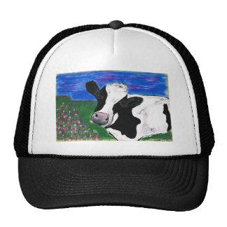 Cow, Farm, Animal, rural, hand painted calf. Cap