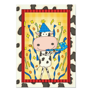 Cow - Graduation Party Card
