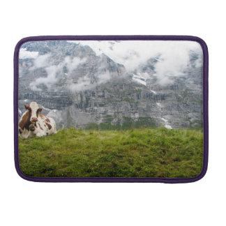 Cow in the Swiss Alps - Macbook Pro Sleeve
