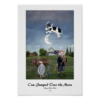 Cow Jumped Over the Moon Print