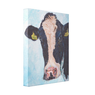 Cow no 02. 0566 Irish Friesian Cow Canvas Print