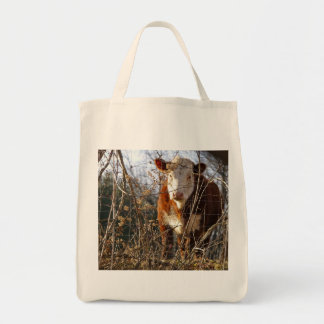 Cow on shopping bag
