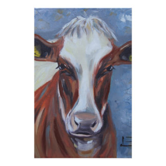 Cow Painting, Cow Decor, Cow Art, Dairy Cow Stationery