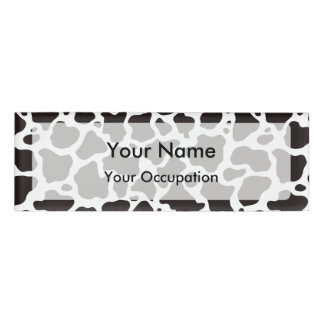 Cow pattern background Name Tag
