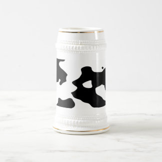 Cow Pattern Black and White Beer Stein