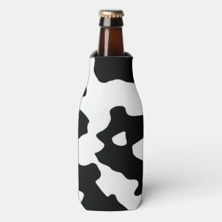 Cow Pattern Black and White Bottle Cooler