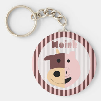 Cow + Pig = Moink keychain