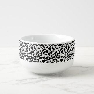 Cow Print Soup Mug